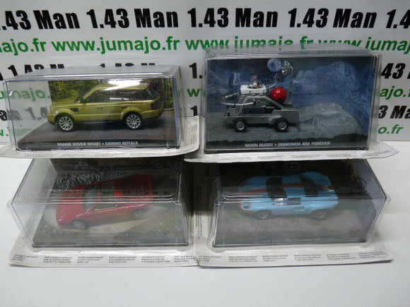 lot 4 Voitures(2) 1/43 IXO 1/43 IXO 007 JAMES BOND : JB 10, 31, 52, 51 gt 40