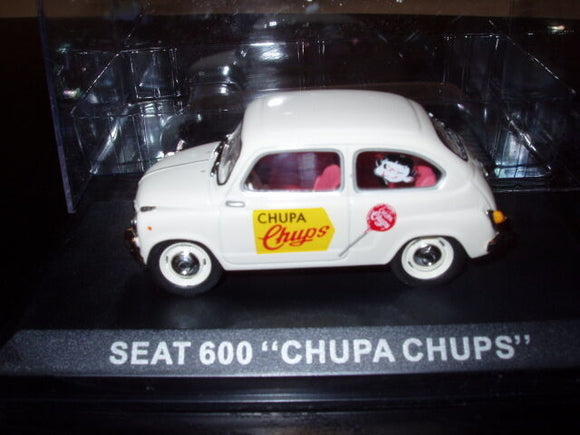voiture 1/43 IXO  Camionnettes Publicitaire : SEAT 600 Chupa chups