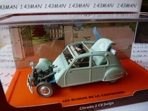 FIL3 Voiture 1/43 Collection TINTIN 2 base orange CITROËN 2CV accidentée