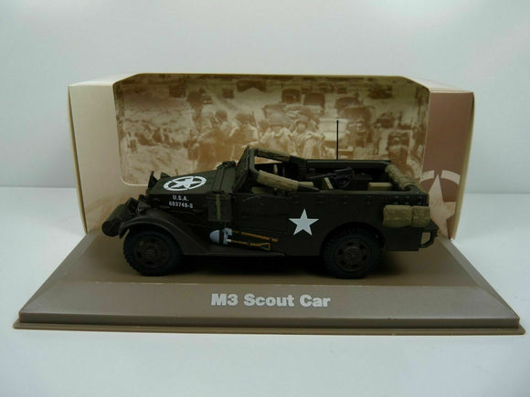 BL20H atlas IXO 1/43 Blindés WW2 : M3 Scout Car white US army USA
