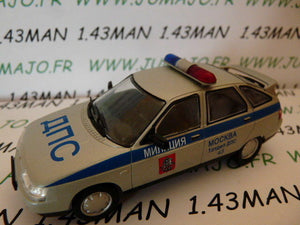 Voiture 1/43 IXO déagostini RUSSE Service : VAZ 2112 DPS Moscou police