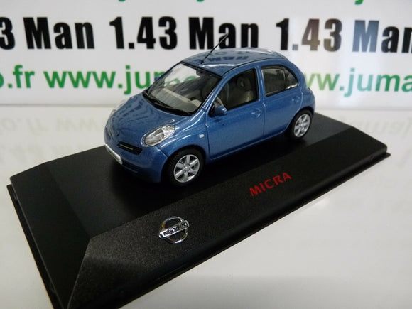 NI2G VOITURE 1/43 J collection : NISSAN MICRA bleu