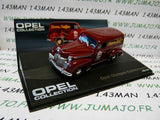 OPE96R 1/43 IXO eagle moss OPEL collection n°88 : OLYMPIA KASTENWAGEN café 1950