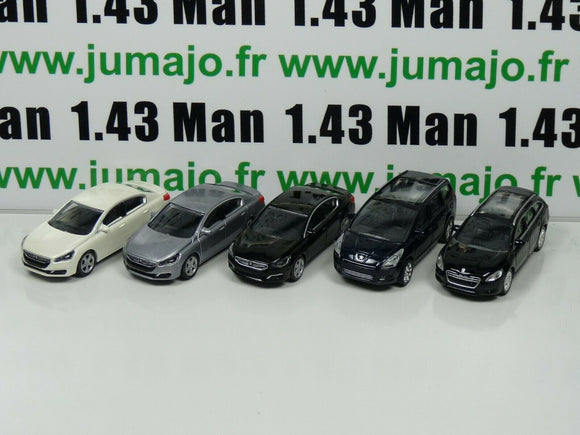 LOT n°6 : 5 X 3 inches 1/64 PEUGEOT NOREV 508 5 portes, 508 sw, 5008