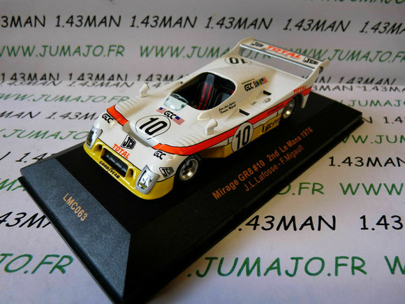 voiture 1/43 IXO 24 Heures MANS MIRAGE GR8 #10 2nd Mans 1976 Lafosse