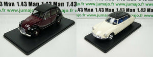 LOT 2 Voitures 1/24 SALVAT : CITROEN DS 19 (1956) et 2CV6 Charleston (1982)