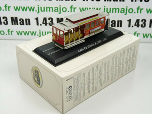 MEA85W LOCOMOTIVE tram 1/87 HO : Cable Car Ferries & Cliff (1888) San Francisco