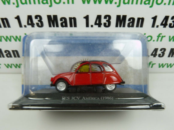 ARG59G Voiture 1/43 SALVAT Autos Inolvidables : Citroen 3CV America 1986