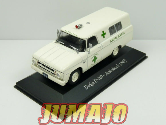 SER7B 1/43 SALVAT Vehiculos Servicios : Ambulance DODGE D 100 1967