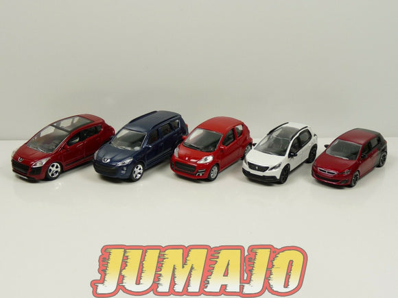 LOT n°8 : 5 X 3 inches 1/64 PEUGEOT NOREV 308 gTI 107 3p 2008 3008 4007