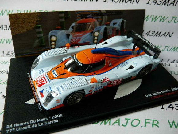 24H28M voiture 1/43 IXO 24 Heures Le Mans : LOLA Aston Martin B09 Gulf 2009