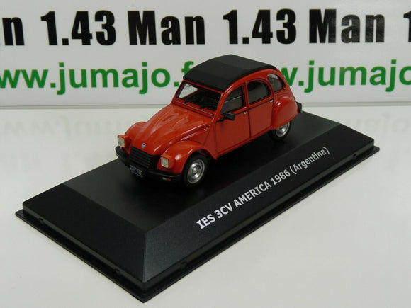 CVW1B 1/43 IXO Direkt CITROËN 2cv of the world : IES 3CV America 1986 Argentine