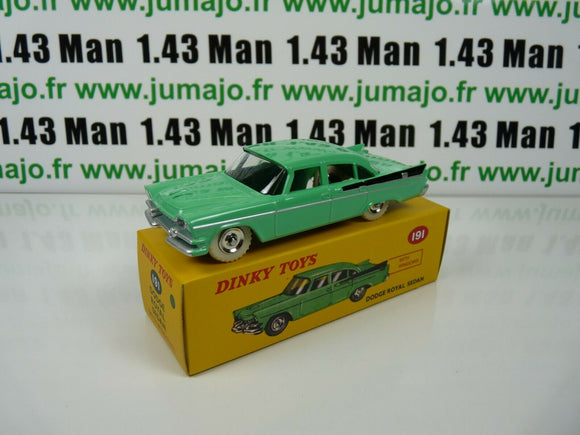 DT45E Voiture réédition DINKY TOYS atlas : DODGE Royal sedan UK verte