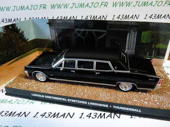 JB119 voiture 1/43 IXO altaya 007 JAMES BOND LINCOLN Continental limousine