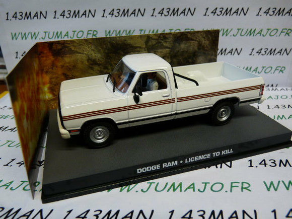 JB125E voiture 1/43 IXO 007 JAMES BOND Angleterre : DODGE RAM Licence to kill