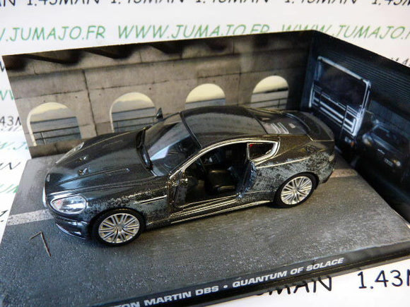 JB110E 1/43 IXO 007 JAMES BOND Angleterre : ASTON MARTIN Dbs damge accidenté