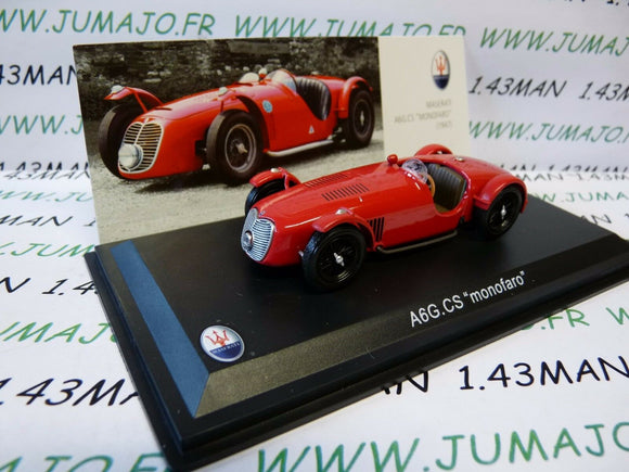 MAS3S voiture 1/43 LEO models : MASERATI collection : A6G CS monofaro 1947