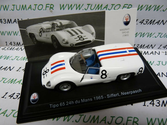 MAS32S voiture 1/43 LEO models MASERATI TIPO 65 24 heures du Mans 1965 Siffert