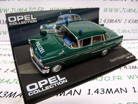 OPE70R voiture 1/43 IXO OPEL collection : KAPITAN P2 PII POLIZEI police