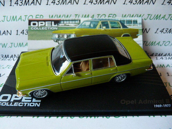 OPE84R voiture 1/43 IXO eagle moss OPEL collection : ADMIRAL B 1969/1977