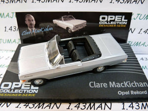 OPE122R voiture 1/43 IXO designer serie OPEL collection : REKORD A C.MacKichan