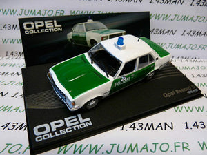 OPE101R voiture 1/43 IXO eagle moss OPEL collection : REKORD D Polizei 1972/1977