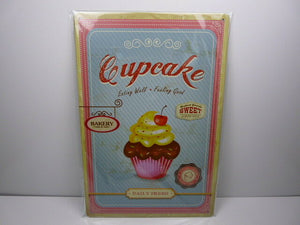 PA77F PLAQUES TOLEE vintage 20 X 30 cm : Cup cake bakery