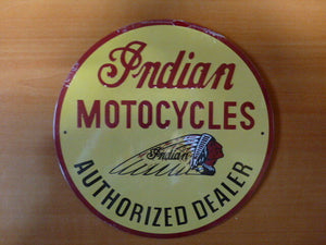 PB51 PLAQUES PUB tolée age d'or de l'Automobile n°69 21cm ronde INDIAN moto