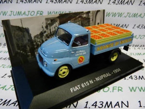 PIT33D 1/43 IXO Altaya Véhicules ITALIE FIAT 615 pick-up N Nupral Oranges 1954