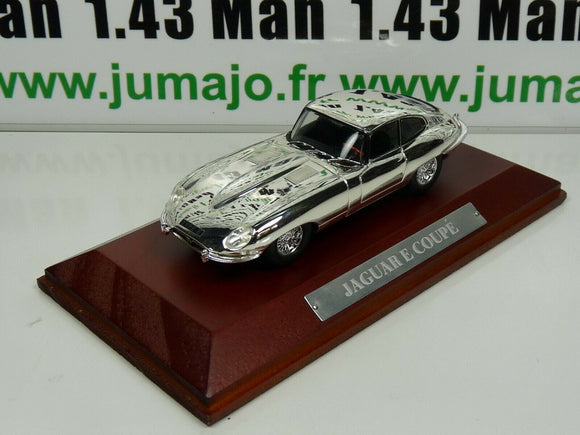 SIL3T VOITURE 1/43 IXO CHROME : JAGUAR E coupé