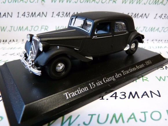 TRA68 voiture 1/43 atlas traction NOREV  traction 15 six gang des traction 1951