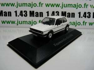 VW4F voiture 1/43 IXO Volkswagen collection : GOLF GTi I 1976 blanche