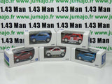 LOT n°1 : 5 X 3 inches 1/64 PEUGEOT NOREV  206 3 porte, cc, racing, 207 3p cc