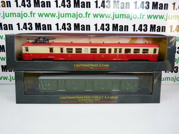 Lot 2 train Automotrices SNCF 1/87 HO : etat type z + z 7100