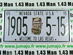 PA102F PLAQUES TOLEE 15 X 30 cm : Nevada State USA - WELCOME TO LAS VEGAS
