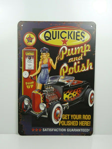 PA11F PLAQUES TOLEE vintage 20 X 30 cm : Pin'up Quickies Pump and Polish