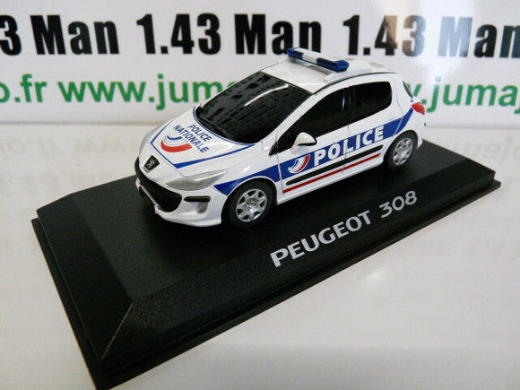 PE22A VOITURE 1/43 PROVENCE MOULAGE : PEUGEOT 308 Police