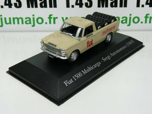 SER23 1/43 SALVAT Vehiculos Servicios: Fiat 1500 Multicarga pick-up Pneus (1965)
