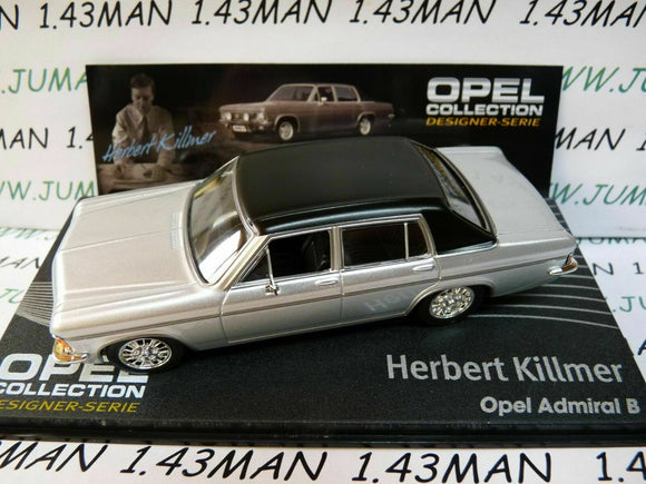 OPE137R 1/43 IXO designer serie OPEL collection : ADMIRAL B H.Killmer silver