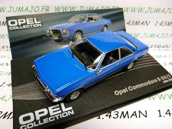 OPE38R voiture 1/43 IXO OPEL collection : COMMODORE B GS/E 1972/1977 bleu