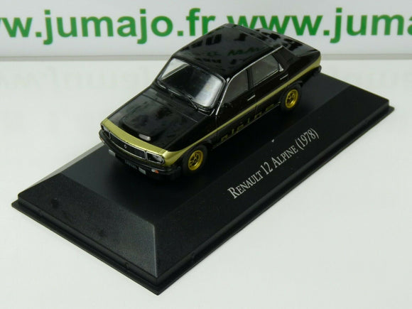 ARG43 Voiture 1/43 SALVAT Autos Inolvidables : Renault 12 Alpine 1978