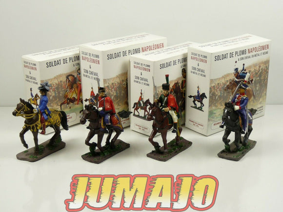 LOT4 SOLDAT cavalier NAPOLEON 1/32 cheval MURAT regiment lanciers hussards garde