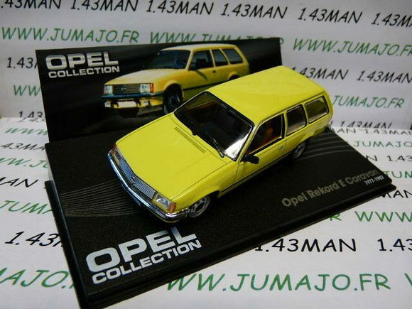 OPE78 voiture 1/43 IXO eagle moss OPEL collection : Rekord E caravan 1977-1982