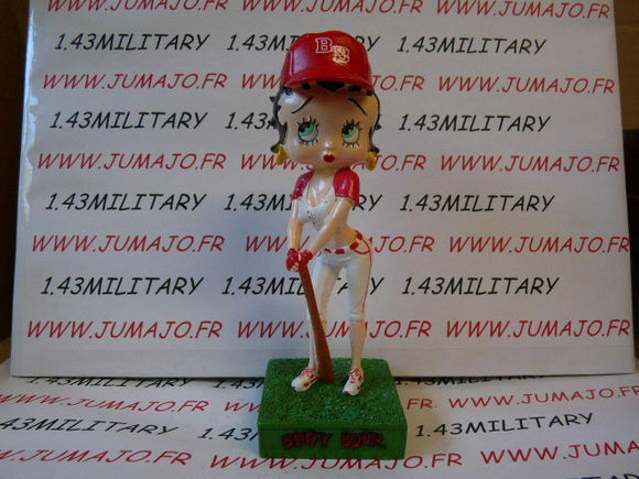 BB12 figurine Betty boop resine en blister MIB 12 cm environ : base-ball