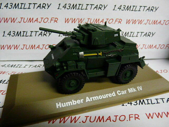 BL14U VOITURE 1/43 Militaire Atlas : HUMBER Armoured car Mk IV UK
