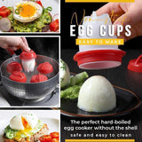 Silicone hard boiled egg maker(3 Pcs)