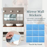 9Pcs/Set Modern 3D Mirror Wall Stickers