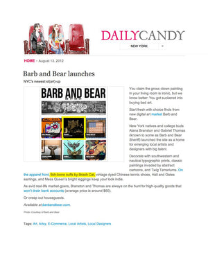 DAILY CANDY August 2012