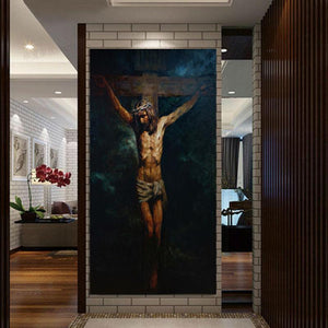 The Crucifixion by Anatoly Shumkin 2015 Unframed Print on Canvas - Ballooo