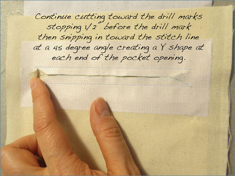 Cutting the Pocket Opening